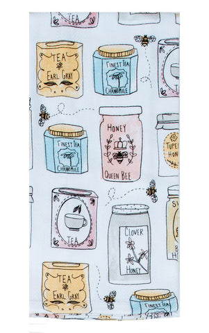 Bee Inspired Jars Tea Towel