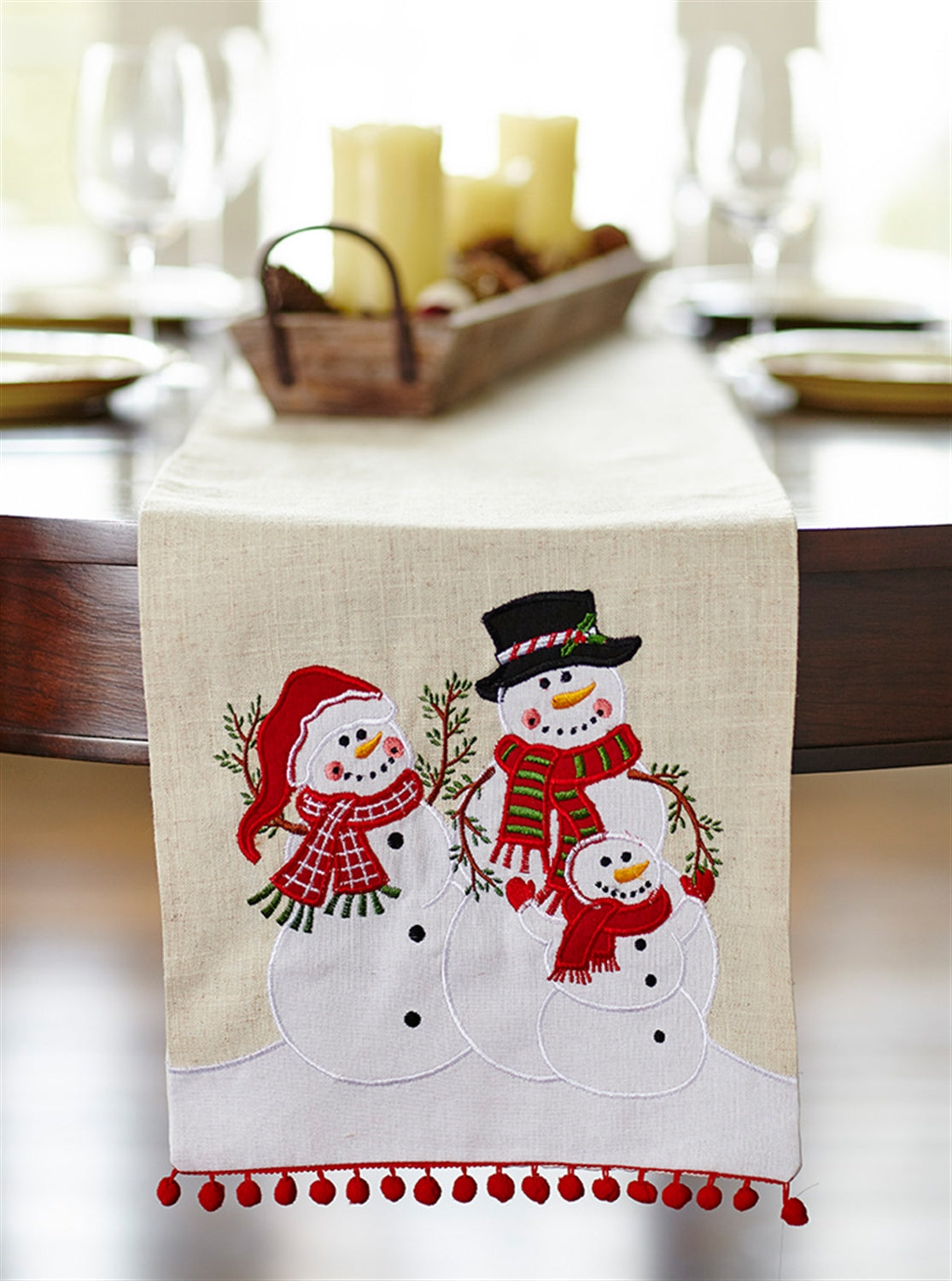Snowman Family Table Runner
