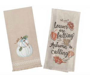 Apple Pumpkin & Leaves Falling Towel Set