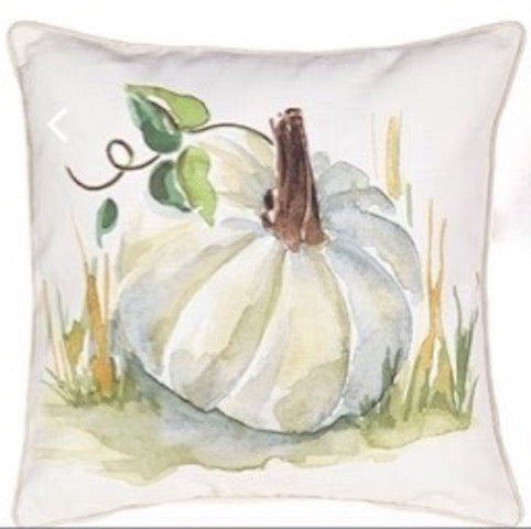 Fall White Pumpkin Pillow