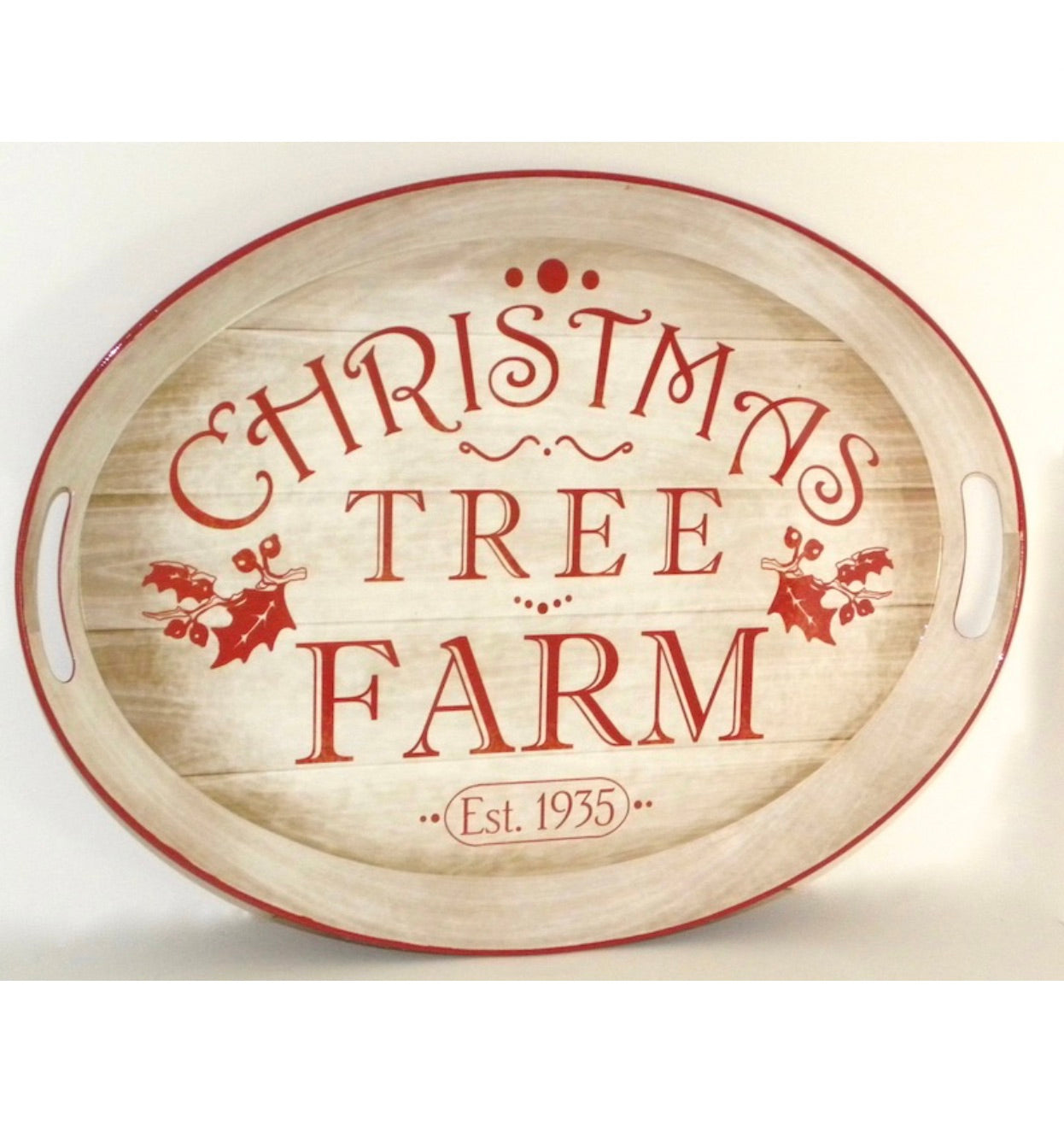 Holiday Christmas Tree Farm Tray