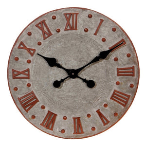 Galvanized Clock