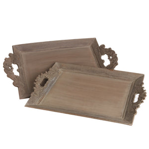 Weathered Wood Trays/Set 2