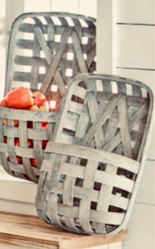 Tobacco Baskets with Wall Pocket