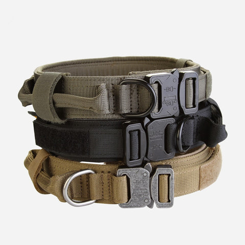 New Nylon Dog Collar Military Comfortably and Durable Necklace for Medium and Big Dog Pet Supplies Accessories(black,brown,green