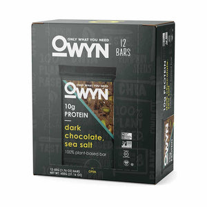 OWYN - Dark Chocolate Sea Salt Bars 12 Pack