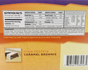 Caramel Brownie Bars - Bariatric Food Source