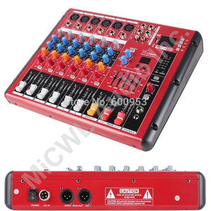 Pro 6 Way Bluetooth Microphone DSP Digital Effect Mixer Controller Mixing  with Mixer USB 48V