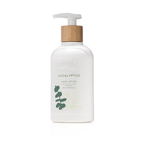 Thymes - Eucalyptus Hand Lotion with Pump - With Moisturizing Shea Butter and Vitamin E - 8.25 oz