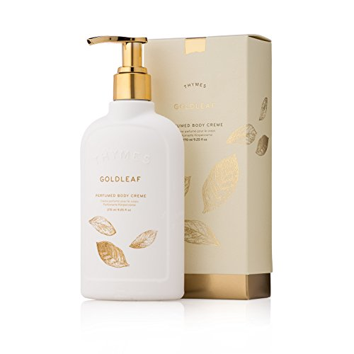 Thymes - Goldleaf Perfumed Body Crème with Pump - Deeply Moisturizing Floral Body Lotion - 9.25 oz