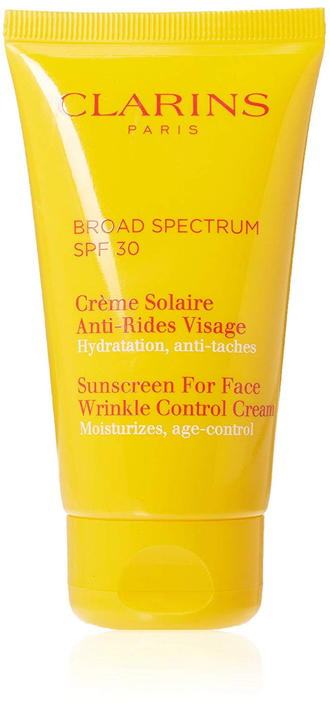 Clarins Sunscreen For Face, Wrinkle Control Cream - High Protection SPF 30