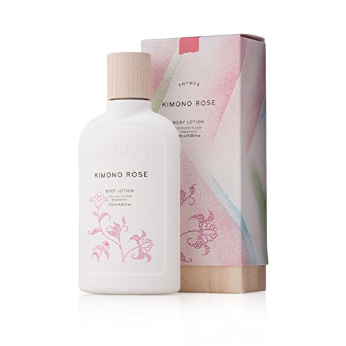 Thymes - Kimono Rose Body Lotion - Moisturizing with Soft Vanilla Rose Scent - 9.25 oz