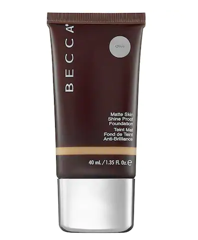 Becca Matte Skin Shine Proof Foundation, Olive, 1.35 Ounce