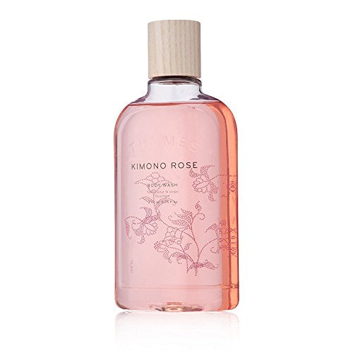 Thymes - Kimono Rose Body Wash - Hydrating Shower Gel with Soft Vanilla Rose Scent - 9.25 oz