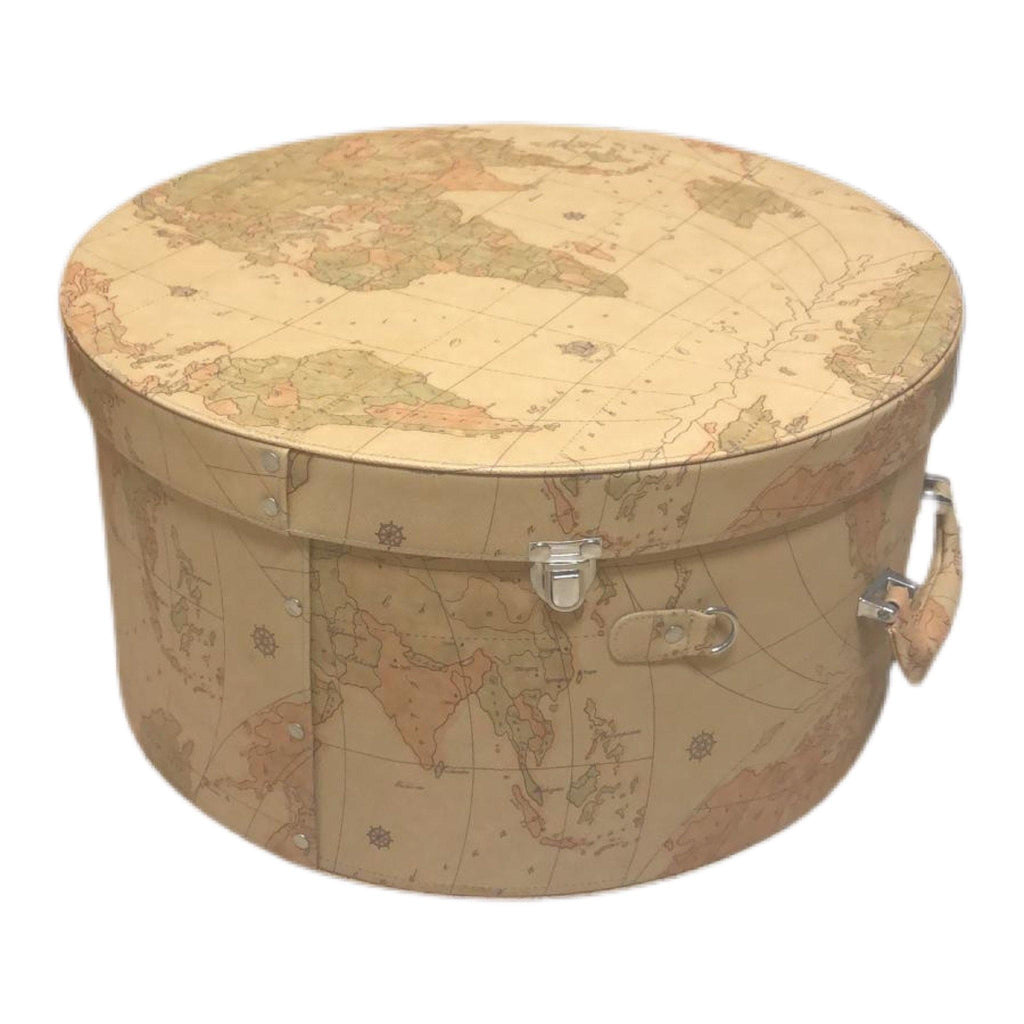 Leatherette Hat Luggage - Hat Box