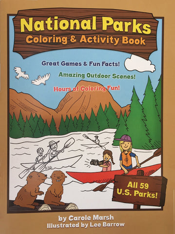 National Parks Coloring & Activity Book