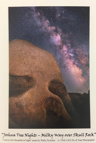 Skull Rock Night Sky Note Card