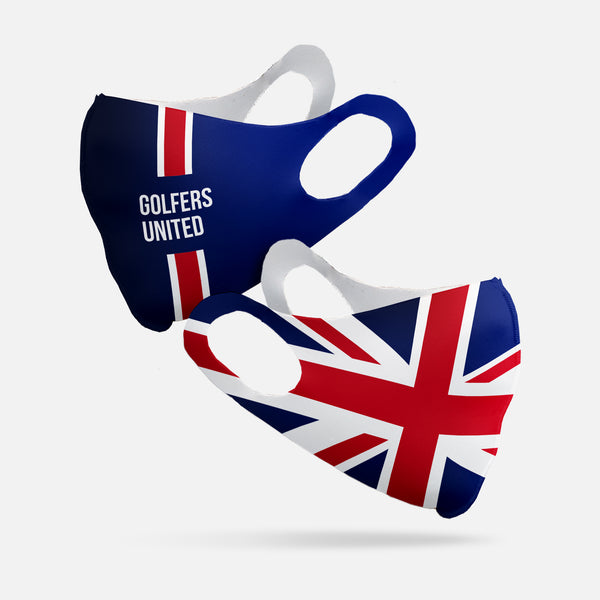 Golfers United Face Mask