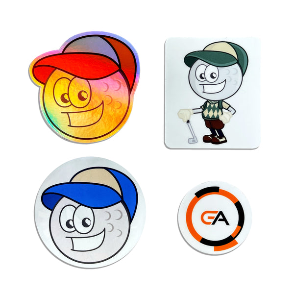 Golfers Authority Ballzy Sticker Pack