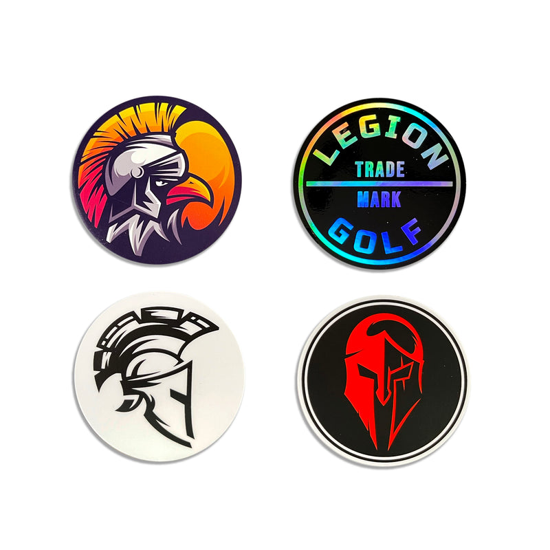Legion Golf Helmet Sticker Pack