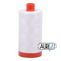 Aurifil Thread 50 wt. 1422 Yards/1300 meters 2021 NATURAL WHITE
