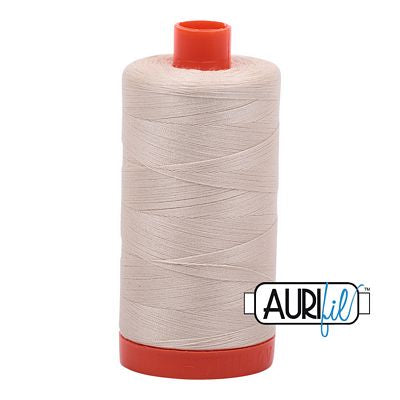 Aurifil Thread 50 wt. 1422 Yards/1300 Meters 2310 LIGHT BEIGE