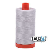 Aurifil Thread 50 wt. 1422 Yards/1300 meters 2615 Aluminum