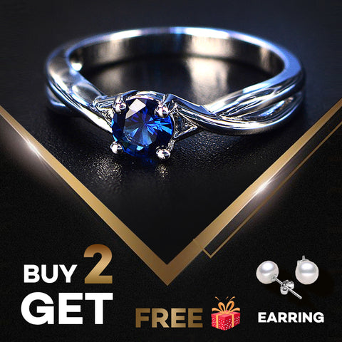 PANSYSEN Fashion 100% Real Sapphire Silver 925 Ring Women's 5mm Round Gemstone Engagement Ring Fine Jewelry Ringen Drop Shipping