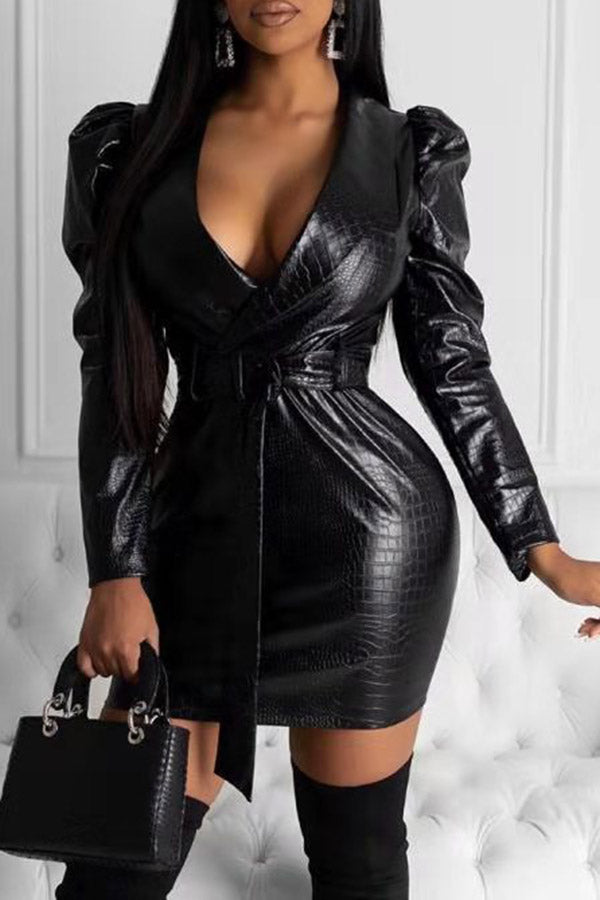 Fashion Leather Dress
