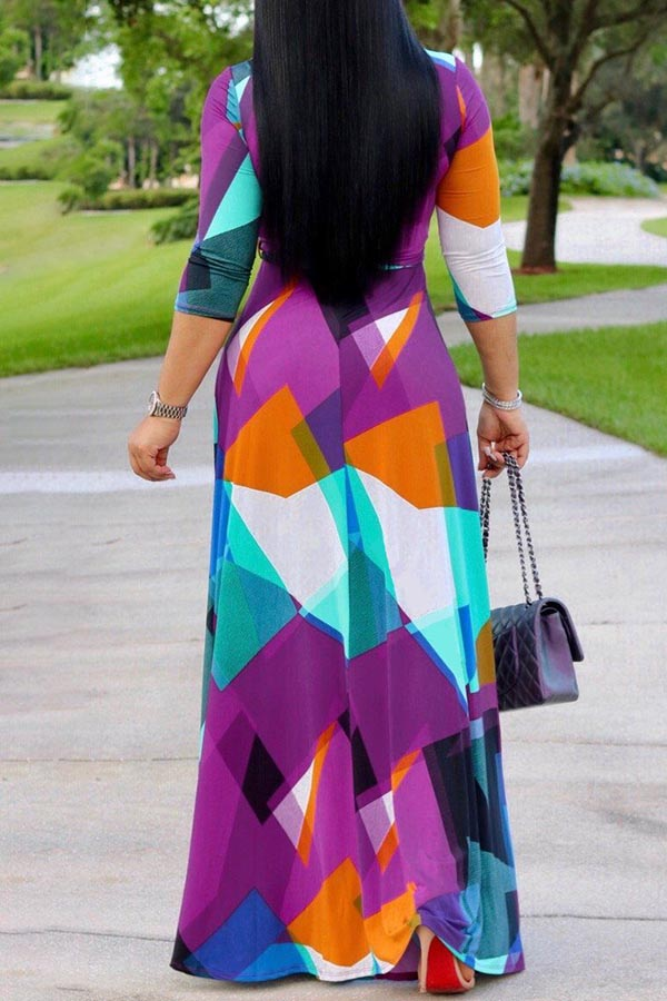 Purple & Blue Maxi Dress