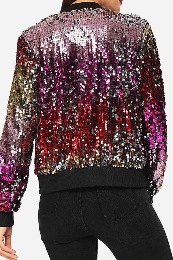 Colorful Sequin Short Jacket