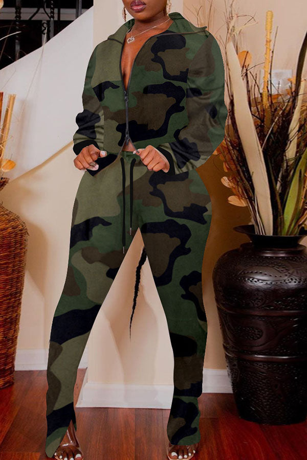 Camouflage Pocket Two Piece Sets