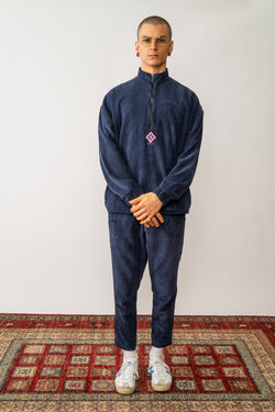 Corduroy Pullover In Washed Navy Blue