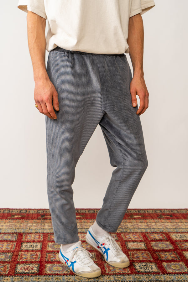 Corduroy Trousers In Washed Grey