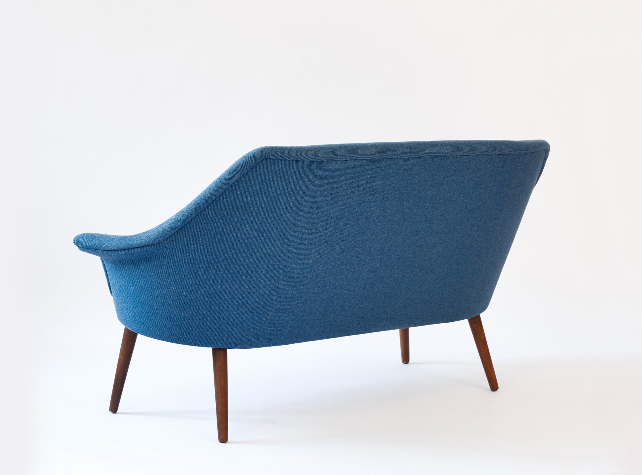 Danish Loveseat, Sky Blue Wool