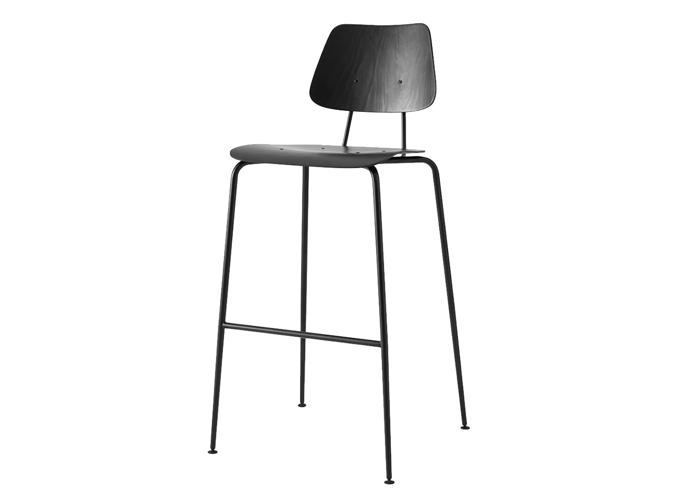Subscription_OMNI_Labofa_Heritage_Collection_office_tall_chair_Black_classic_four_legged_modern_style_comfort