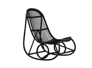 Subscription_OMNI_Nanna_Ditzel_The_Rocking_Chair_design_Black_furniture_office_comfortable_light_airy_bent_rattan_frame The Rocking Chair, Black