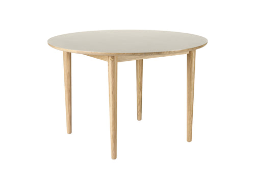 C62E Table, Nature & Light Grey Linoleum