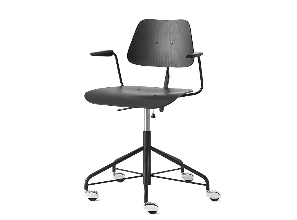 Subscription_OMNI_Labofa_Heritage_Collection_wheeled_swivel_office_chair_Danish_design_Armed_Black_gas_lift_classic