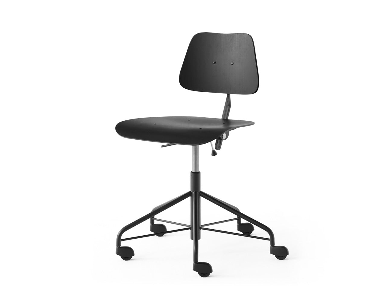 Subscription_OMNI_Labofa_Heritage_Collection_wheeled_swivel_office_chair_Danish_design_Black_gas_lift_comfort