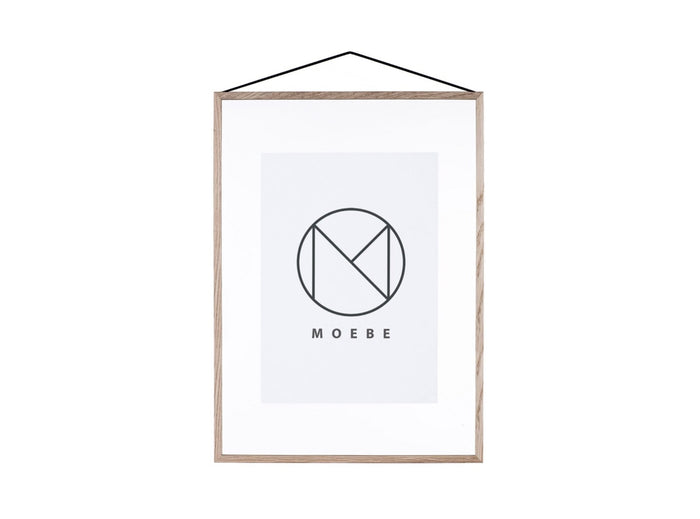 Subscription_OMNI_Moebe_A2_Frame_Oak_acrylic_glass_rubber_Danish_design_classy_art_poster_band_office_frame