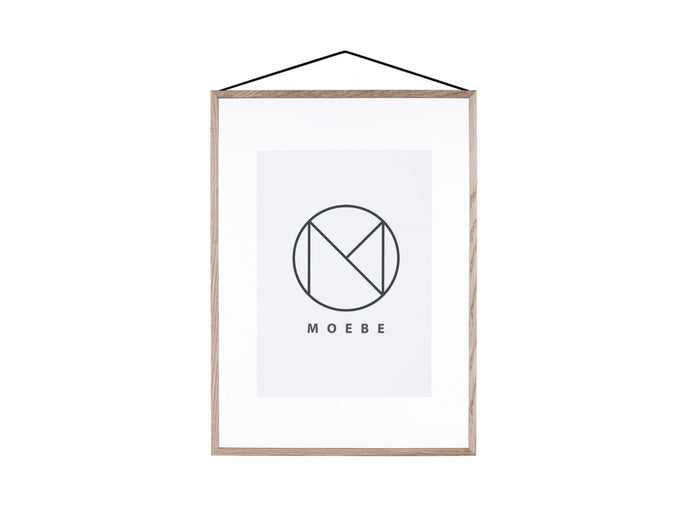 Subscription_OMNI_Moebe_A3_Frame_Oak_acrylic_glass_rubber_Danish_design_classy_art_poster_band_office_frame