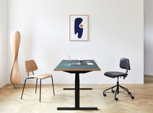 Load image into Gallery viewer, Subscription_OMNI_Labofa_Heritage_Collection_two_office_chairs_Oak_classic_four_legged_modern_style_elevation_desk