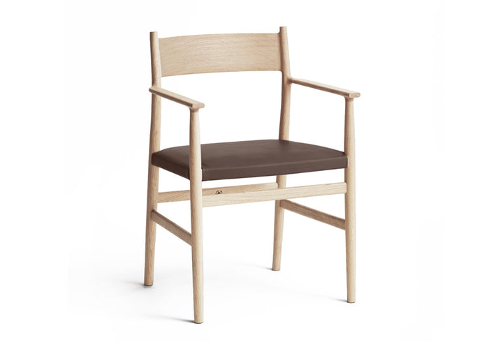 ARV Chair, Armed Oak & Leather