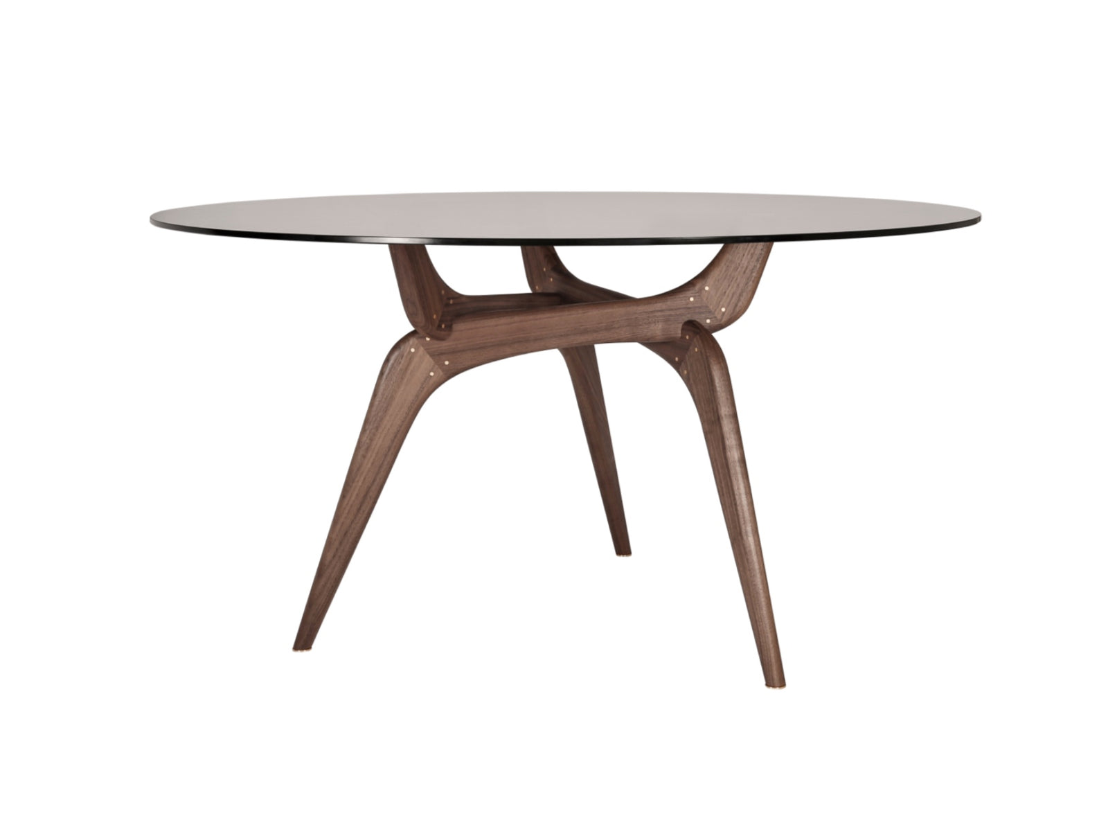 Triiio Round Table, Walnut & Bronze