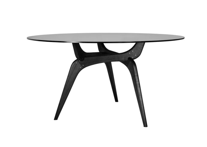 Triiio Round Table, Black & Black