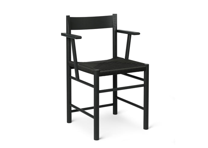 F Chair, Armed Black