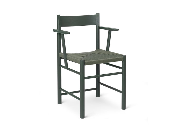 F Chair, Armed Green