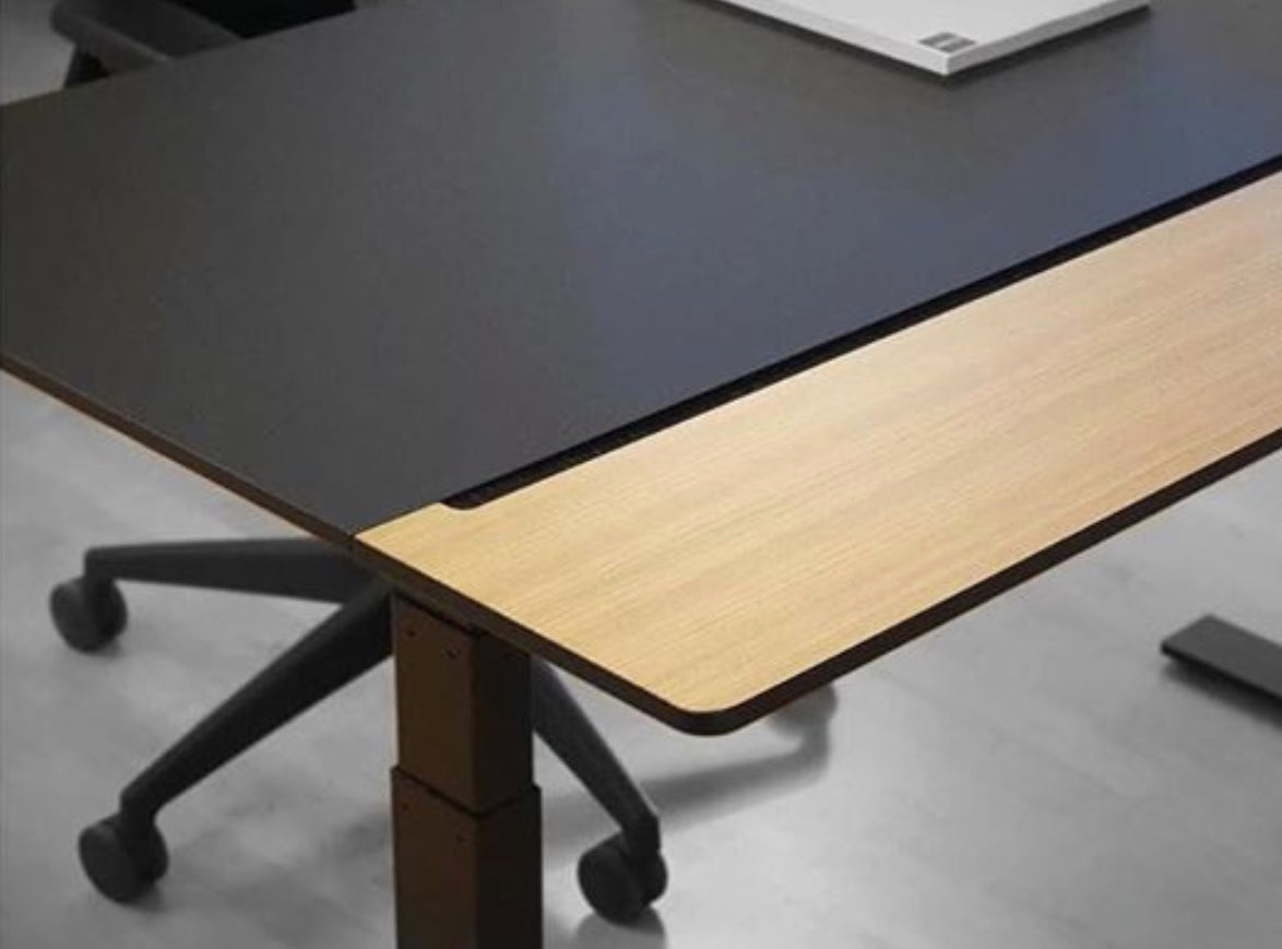Split Desk, Oak & Nero