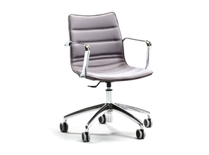 Subscription_OMNI_Cube_S10_wheels_office_chair_gray_classic_four_legged_meeting_conference_room_comfort_swivel_base S10 Office Chair, Ash